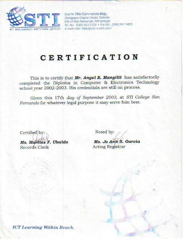 Ojt Certificate Of Completion Template